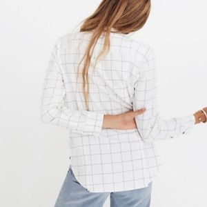 Madewell Windowpane flannel ex boyfriend shirt